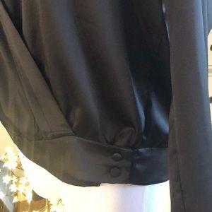 Forever 21 Tops - FOREVER 21 Silky V plunge neck shirt in black